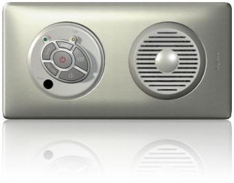 Électricité générale : LEGRAND permet une diffusion sonore dans une seule pièce (radio ou musique ) avec au choix un haut-parleur intégré ou des petits haut-parleurs intégrés au plafond ou dans un mur.