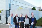 Distribution des tracts par les retraités devant Nexter