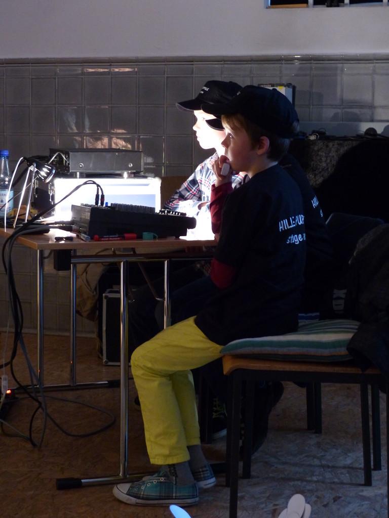 Arbeitsplatz Soundtechnik, Foto:Falley