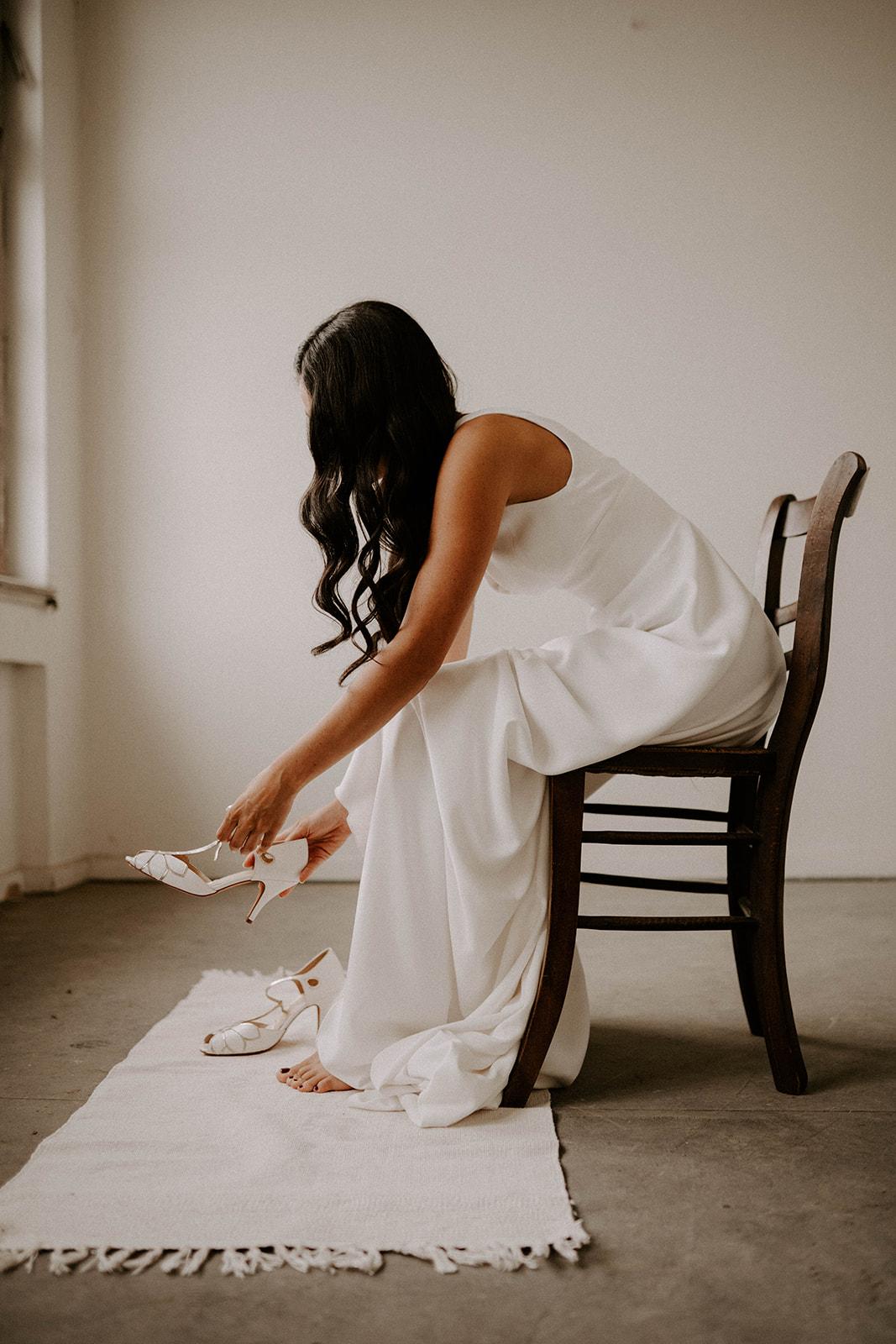 Brautschuhe, Brautstyling, Getting ready