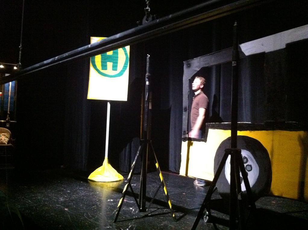 Bühnenbildaufbau