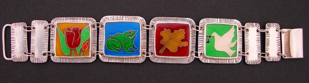 Cloisonne enamel Custom arboretum bracelet