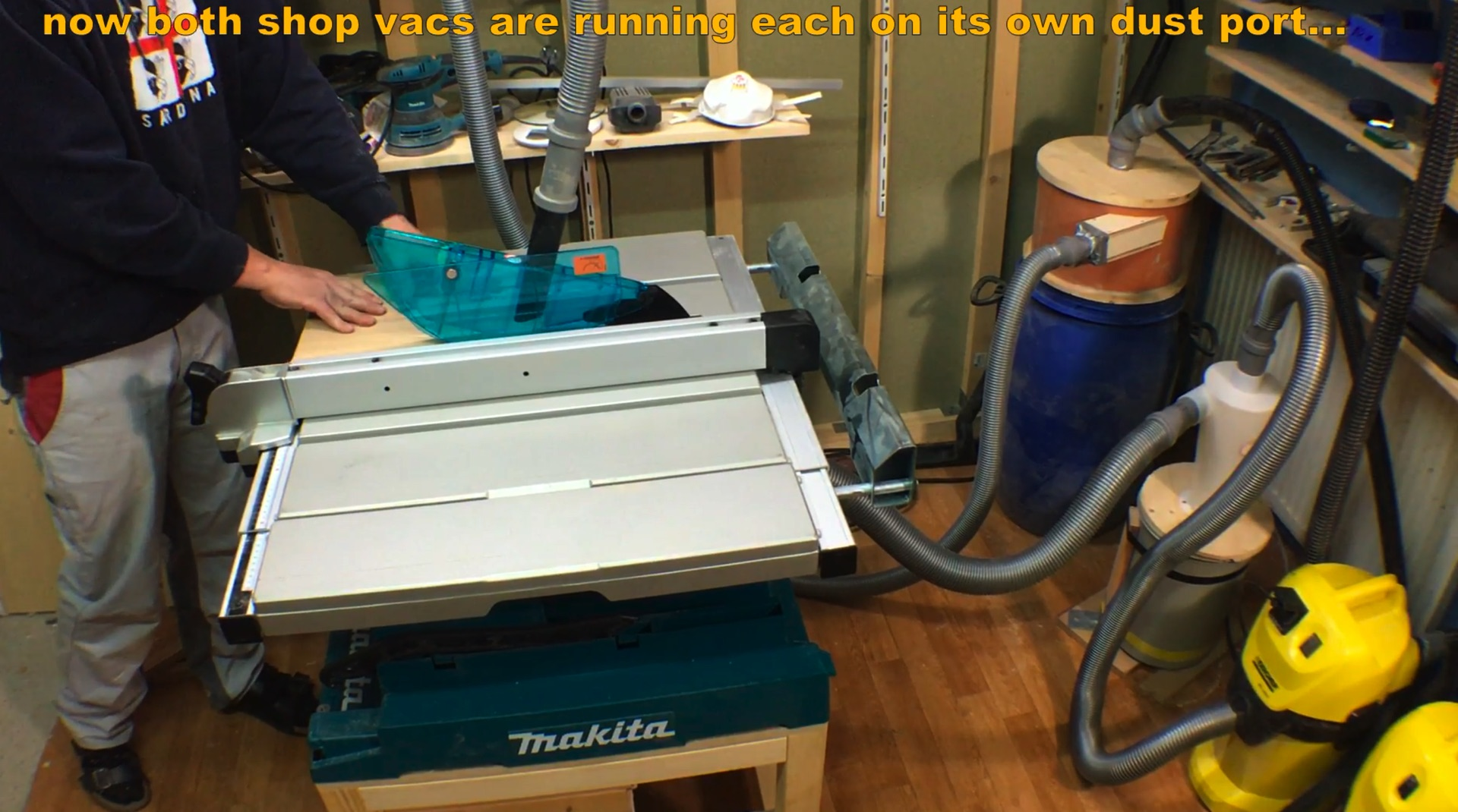 Improved version for my table saw with two exclusive suction positions (see my video)
