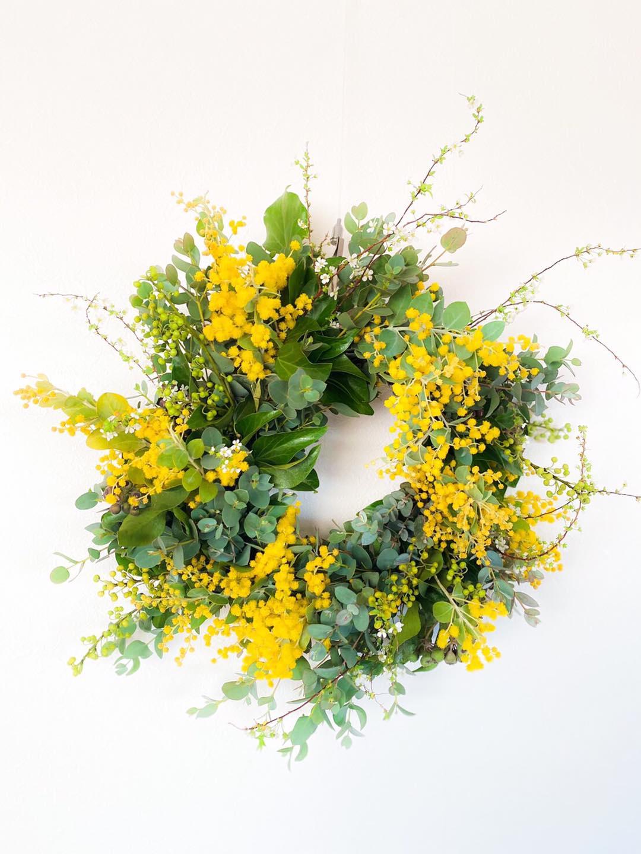 花と遊ぶ 〜そよ風を感じる春のリース〜