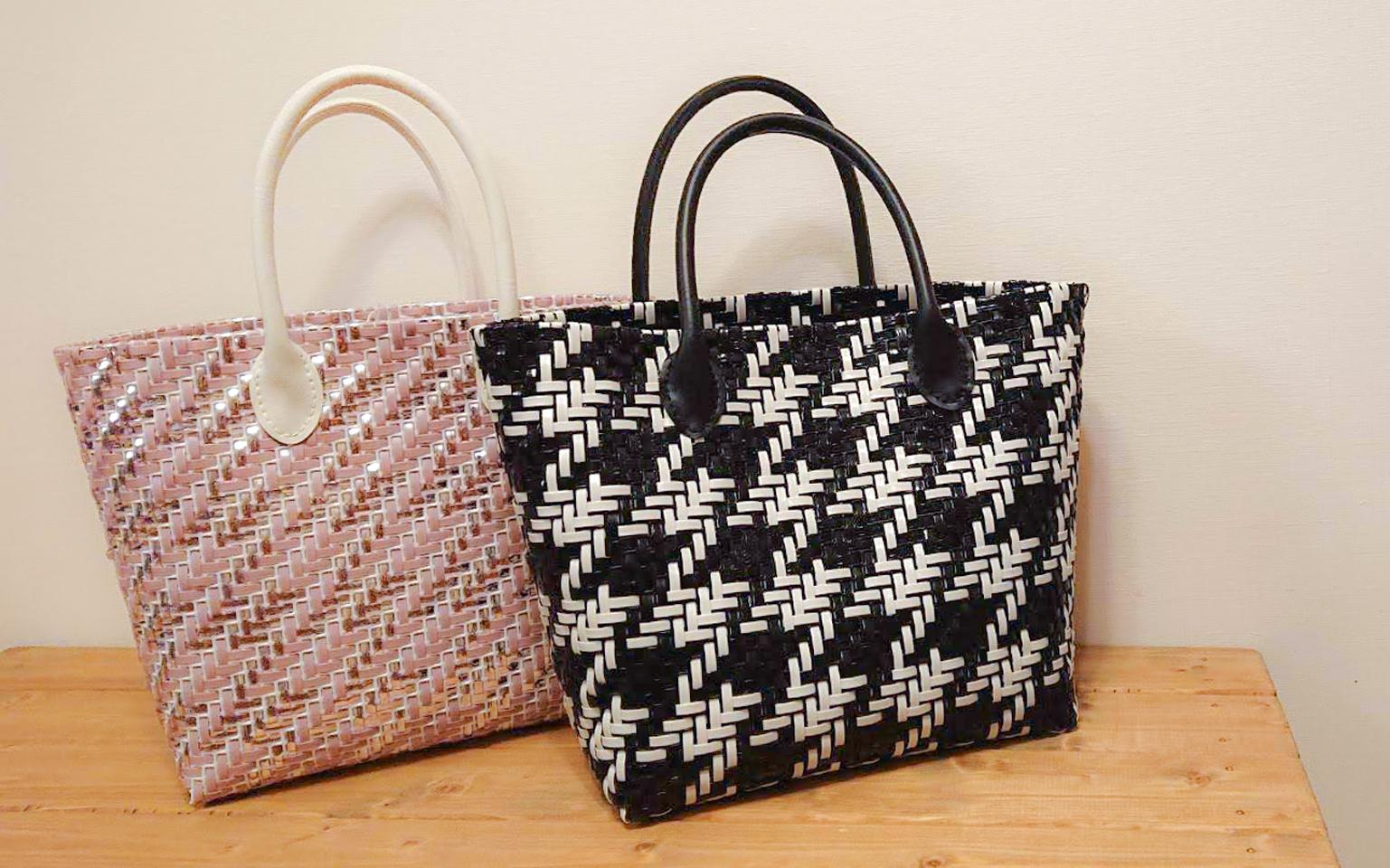 千鳥格子のバッグ
