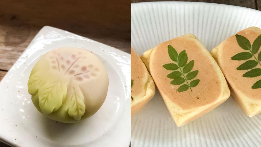 「木の芽(六方焼き)・花桐(練り切り)」