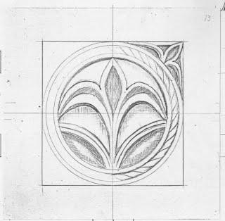 Bocetos utilizados para la elaboración del cincelado