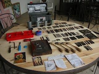 Herramientas utilizadas para cincelar