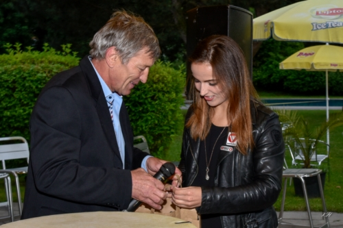 TRSV Obmann Franz Pitschmann gratuliert Martina