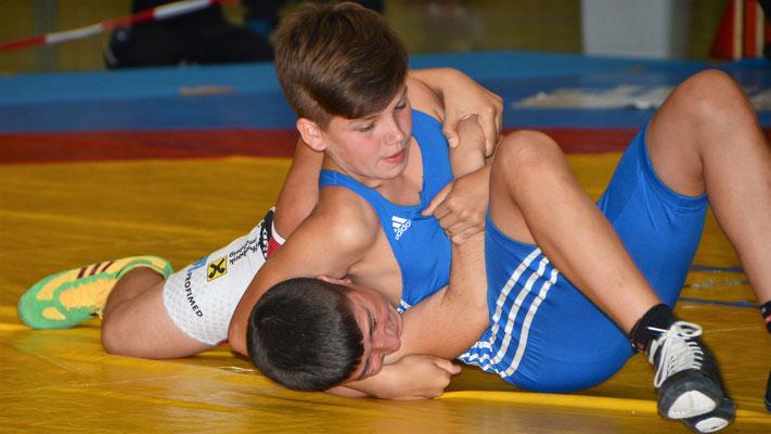 Clemens Baumgartner (Blau): Gold bis 58kg