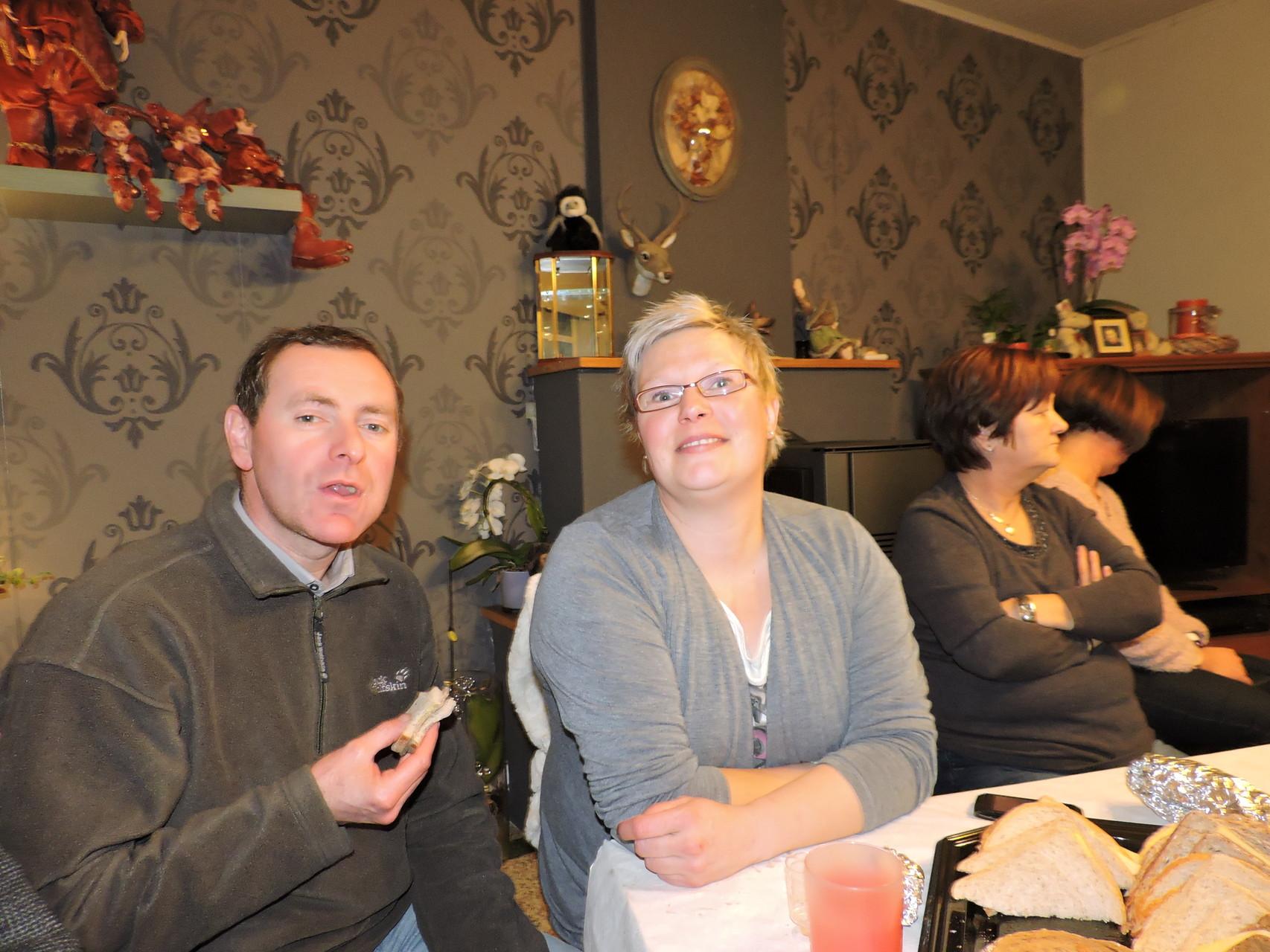 kletskes avand met Peter en Cindy