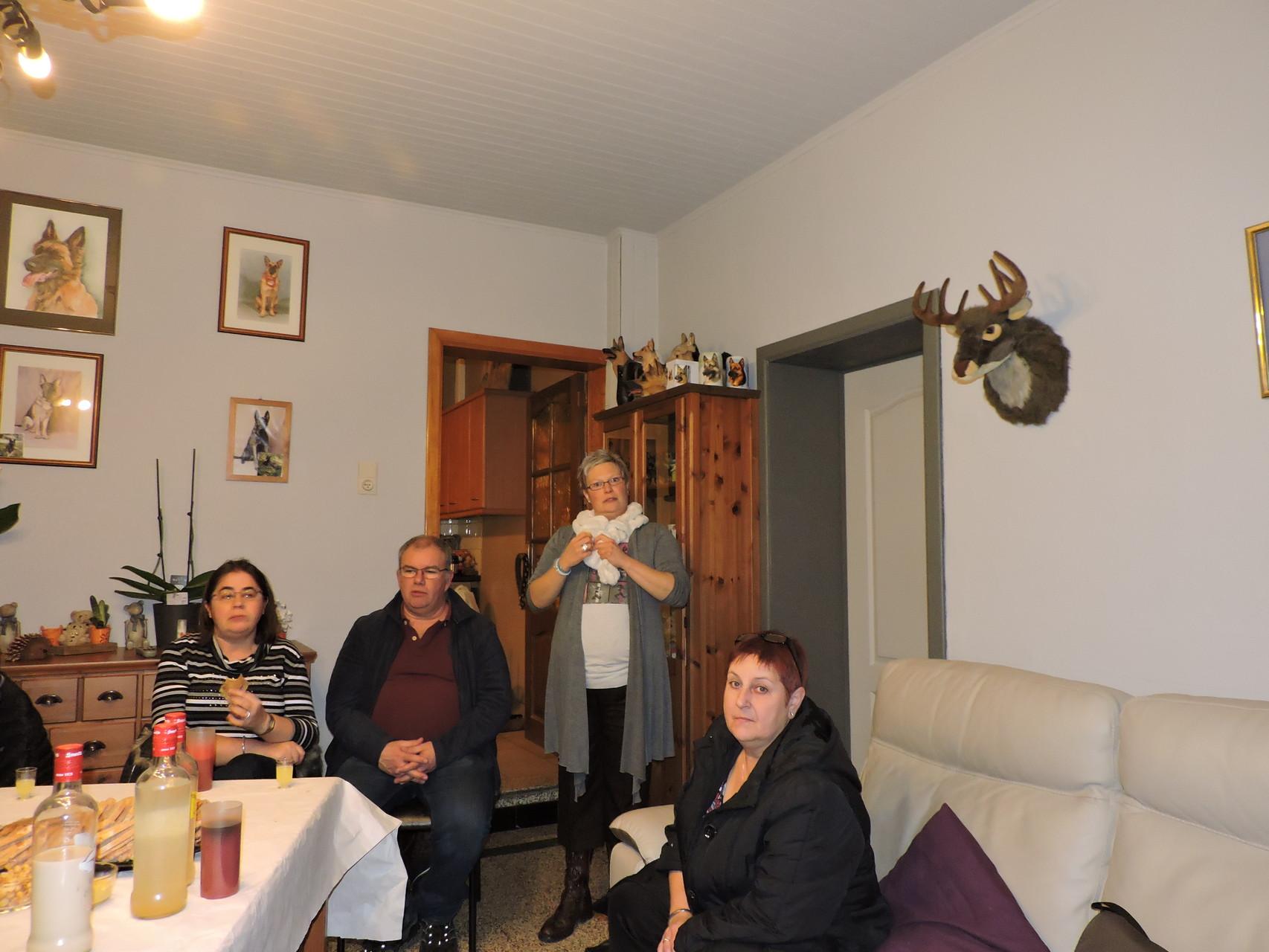 kletskes avand met Greta,Ronny,Cindy en Lutgard