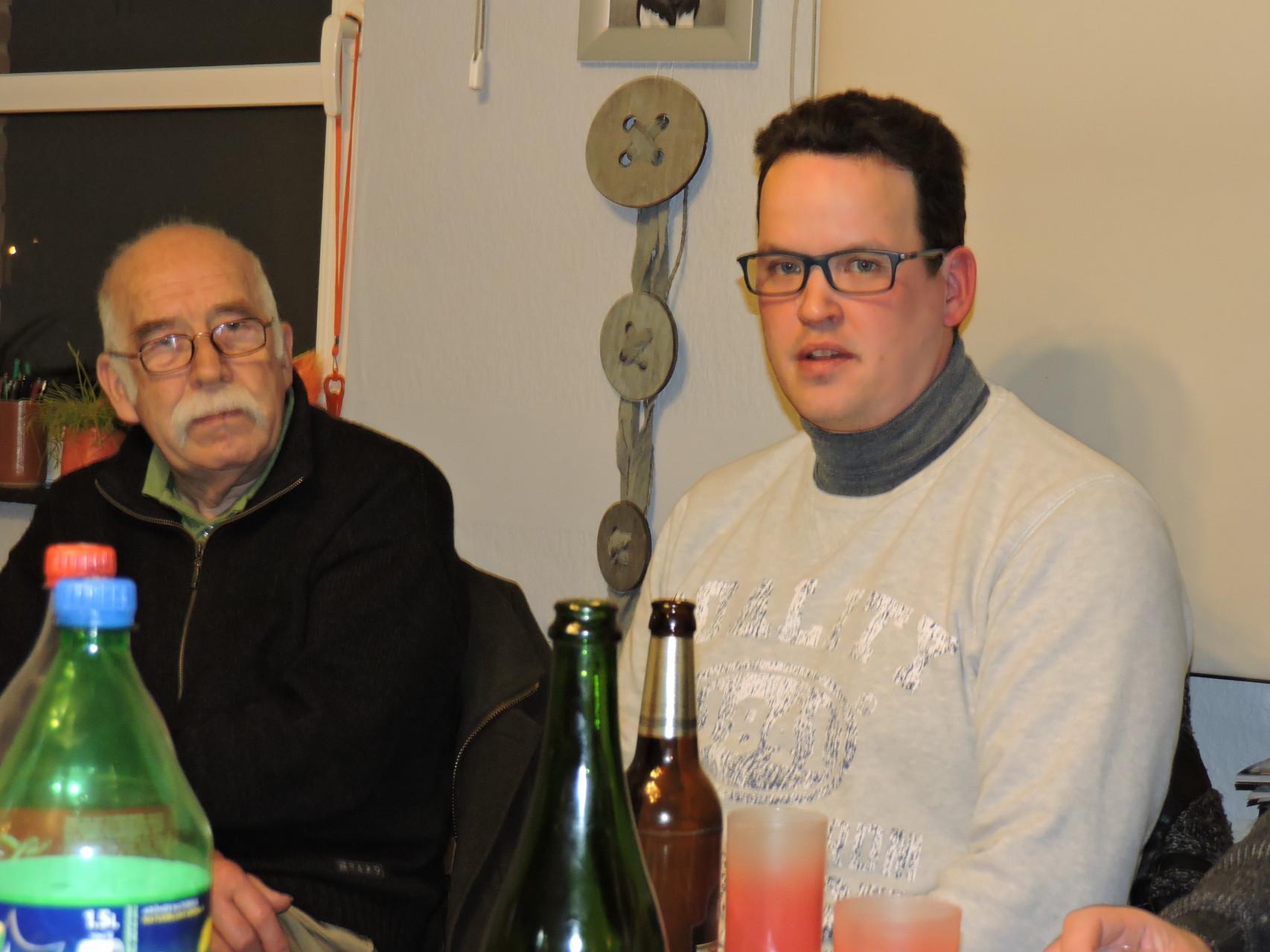 kletskes avand met Herman en Sacha