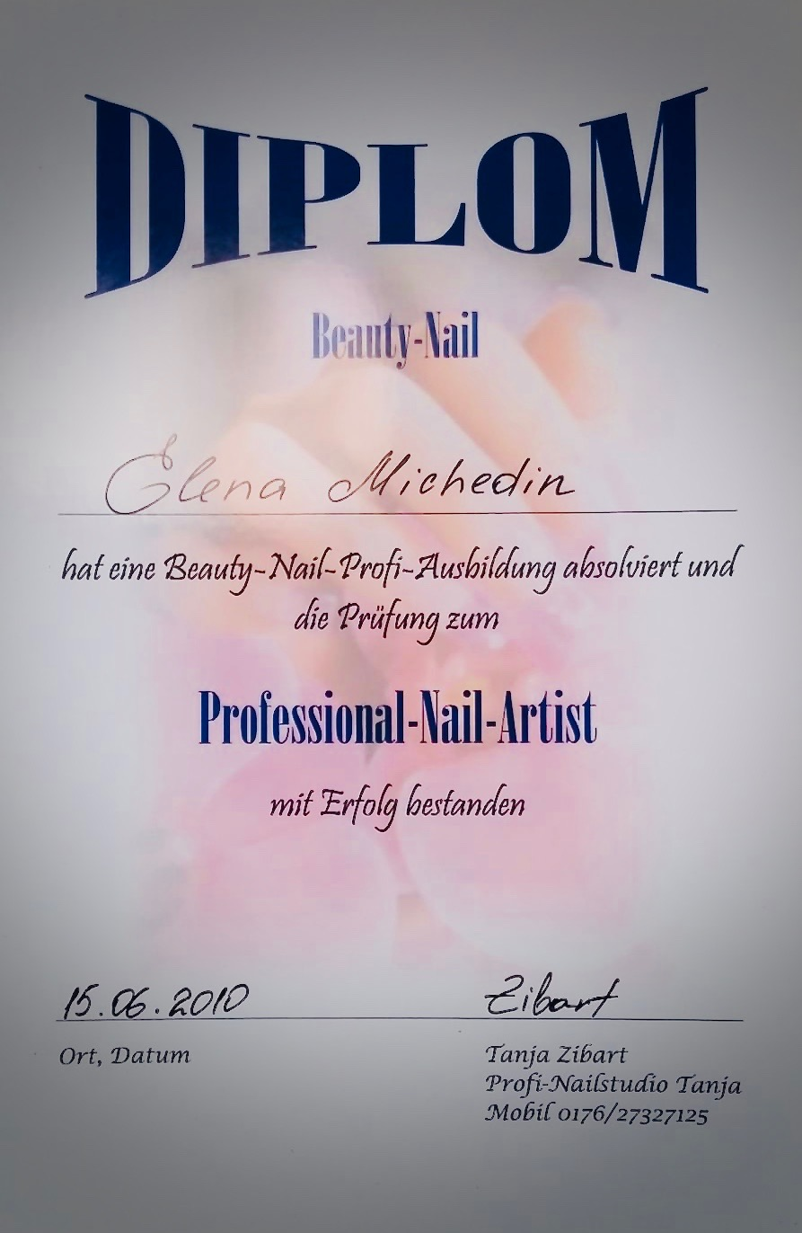 Diplom Professional Nail Artist