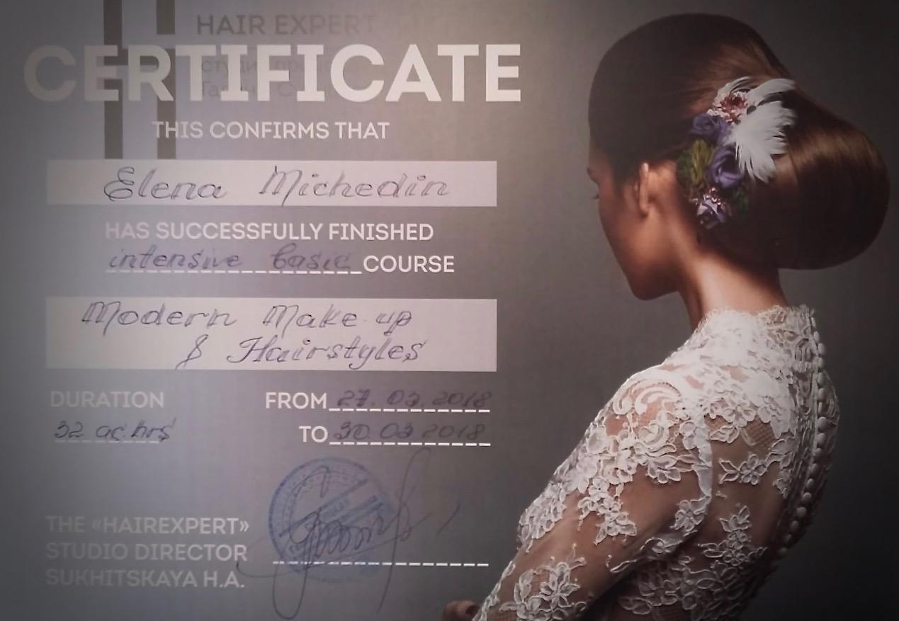 Zertifikat Modern Makeup & Hairstyles