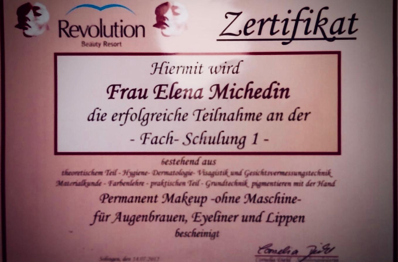 Zertifikat Permanent Makeup ohne Maschine für Augenbrauen, Eyeliner und Lippen