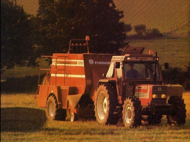 Fiatagri 110-90 DT mit Fiatagri 4700 Ballenpresse