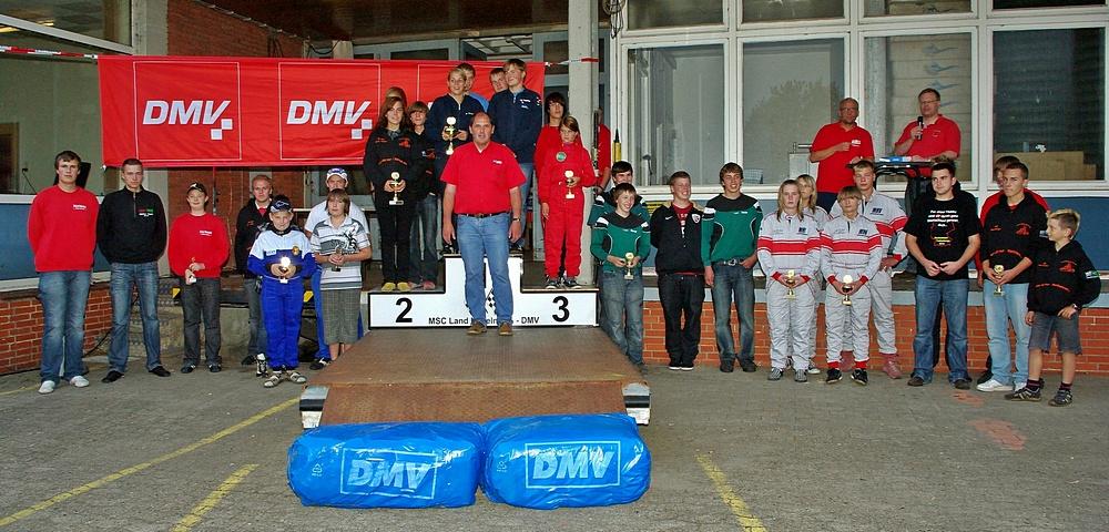 Siegerehrung der Mannschaften. Auch hier triumphierte der MSC Teisendorf, gefolgt vom TGM ACV/HWRT (Trainingsgemeinschaft ACV-OC Hohenlohe, Ingelfingen, Baden-Württemberg) und dem MSC Kochersteinsfeld (Baden-Württemberg) auf Platz 3