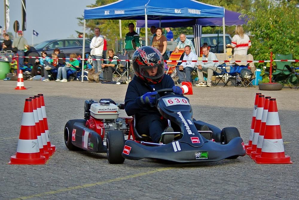 Tagesschnellste Fahrerin war Bettina Kern (19) aus Klasse 6 vom MSC Teisendorf (Oberbayern).