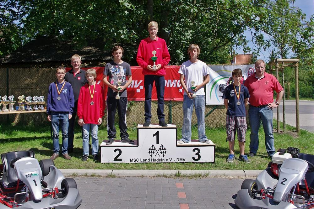 Erfolgreichster Hadler Fahrer war an diesem Tag Fabian Meyer, der nicht nur den Sieg in Klasse 4 errang