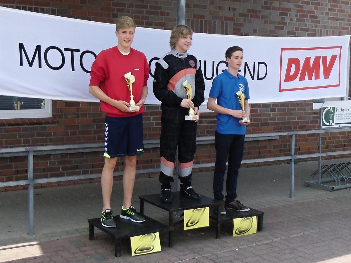 Fabian Meyer (li.) holte einen weiteren zweiten Platz in seiner Klasse 5