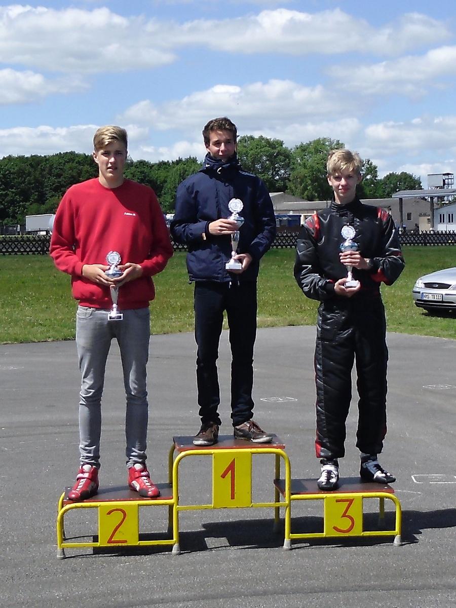 Gute Ergebnisse auch in Klasse 5 mit Fabian Meyer als Zweitem und Nico Föge auf Platz 3