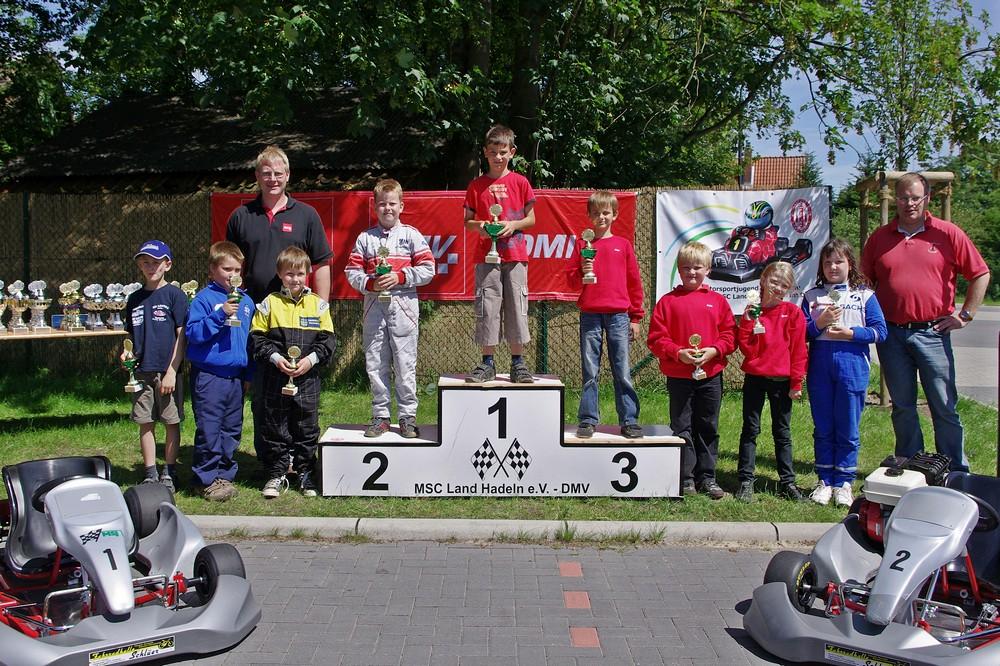 Johannes Habel vom MC Lebusa siegte in Klasse 1 vor Paul Miegel vom MC Schwerin Krösnitz und Joel Selenski (MSC Land Hadeln) auf Rang 3