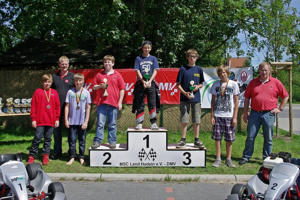 In Klasse 3 gewann der Berliner Dominik Rump, aber Christopher Mangels fuhr auch sehr gut und holte sich einen hervorragenden 2. Platz. Moritz Kynast (MSC Anklam) trat als Dritter auf das Siegerpodest