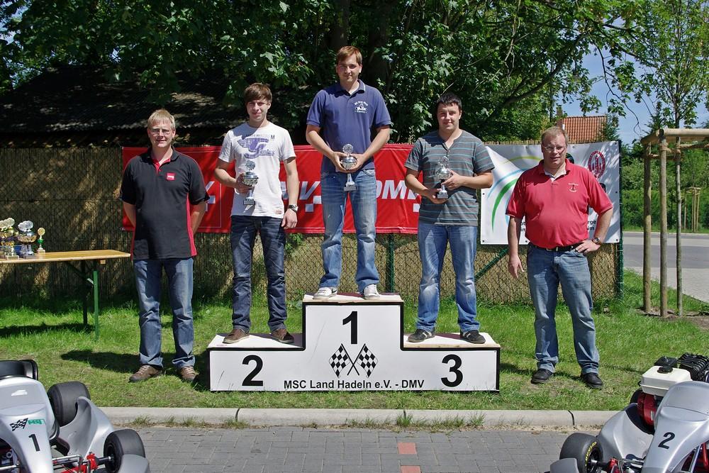 In Klasse 6 war Hadeln nicht vertreten. Chris Freese vom MC Blau-Weiß Sanitz war hier der Schnellste, Vereinskamerad Robin Seidlitz landete auf Rang 2. Matthias Danneberg (MC Lebusa) holte sich den 3. Platz