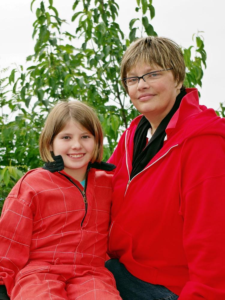 Pauline Friederich und Evi Lehmann