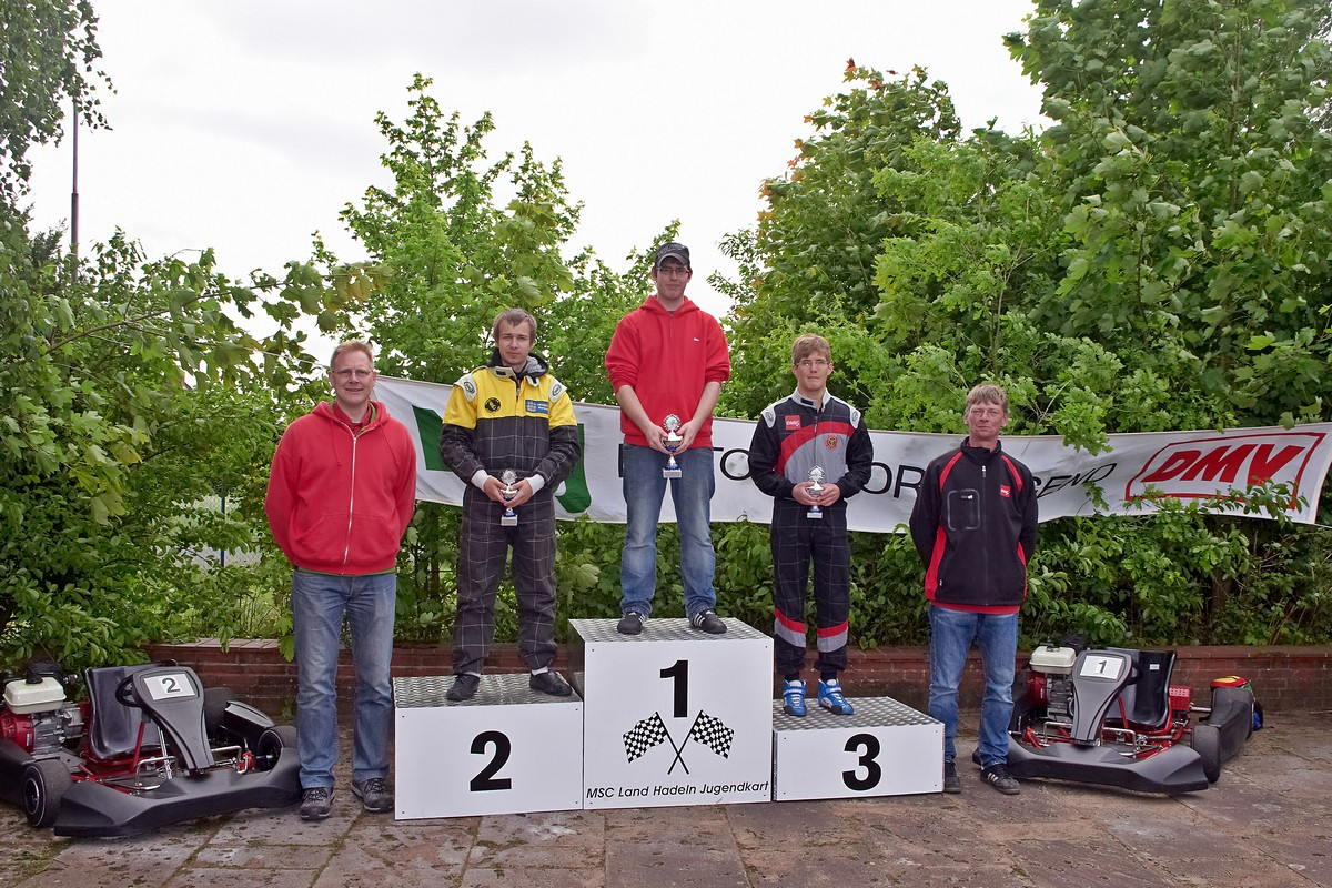 Alexander Doll (MSC Land Hadeln) gelang sein erster Sieg in Klasse 6 vor Matthias Schreiber (BSC Aukrug) und Felix Förster (MSC Berlin)