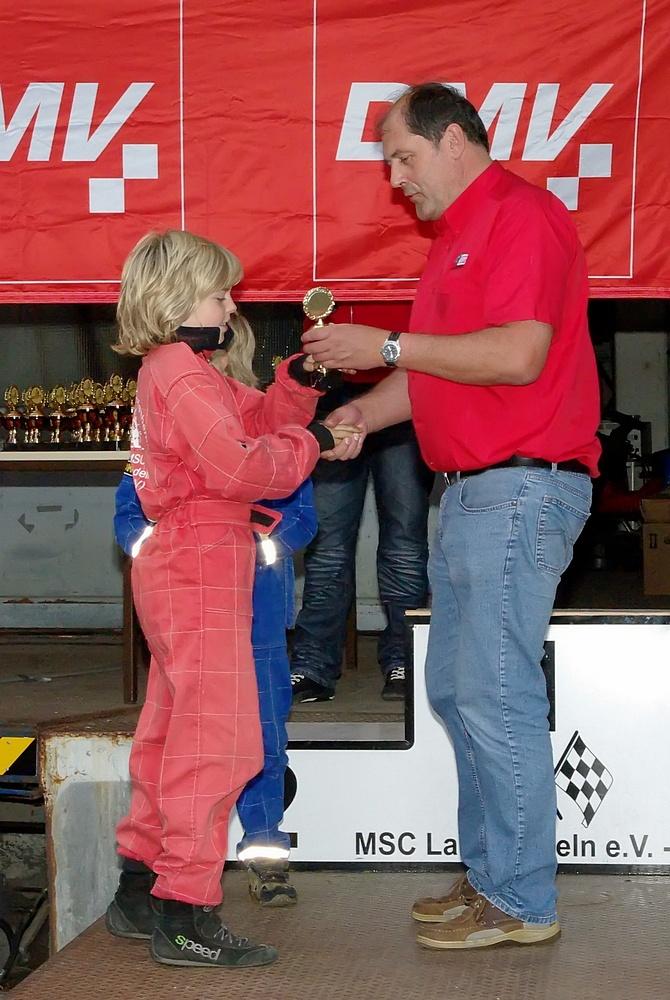 Als bester Fahrer des MSC Land Hadeln war der Kleinste an diesem Tag der Größte: David Anderson kam in Klasse 1 immerhin auf den 4. Platz.