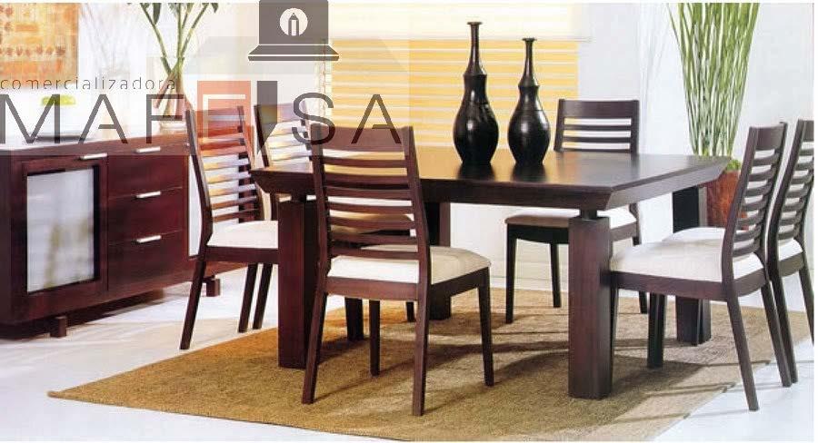 Muebles de madera para comedor - Comedores modernos para espacios pequenos ...