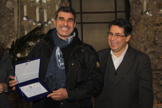 """Il fotografo Giuseppe Sabella e il presidente dell'Associazione """"Pinocchio a Casa Sua"""" Giuseppe Garbarino"""