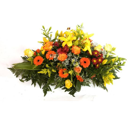 Composizione fiori misti con base in spugna