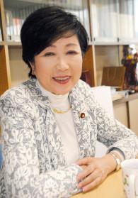 インタビューに答える小池広報本部長=10日、東京の自民党本部