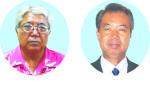 (左から)加勢本曙氏(62)、川満栄長氏(59)