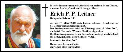 Unsern Ehrenhauptmann Erich Leitner