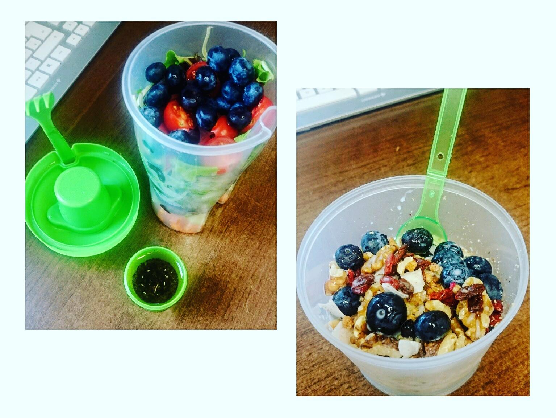 Ideen für gesunde Mahlzeiten im Büro.