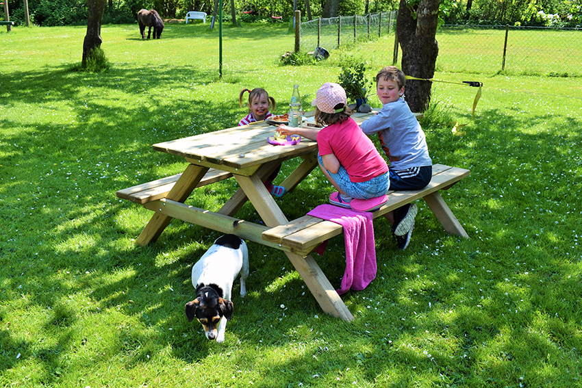 Kleine Pause auf dem Ferienhof Jacobs nahe St. Peter Ording