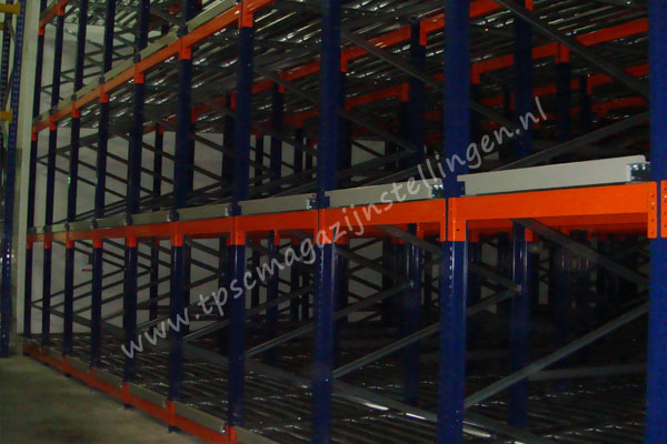 Kimer push back palletstelling