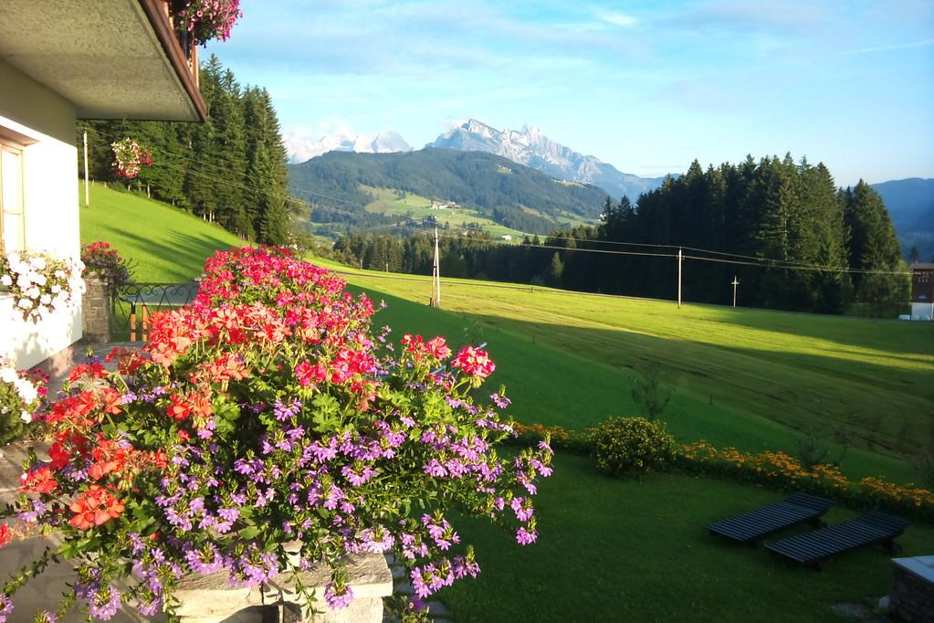 Biohof Haus Wieser, Abtenau, Salzburg Land, Sommer am Balkon