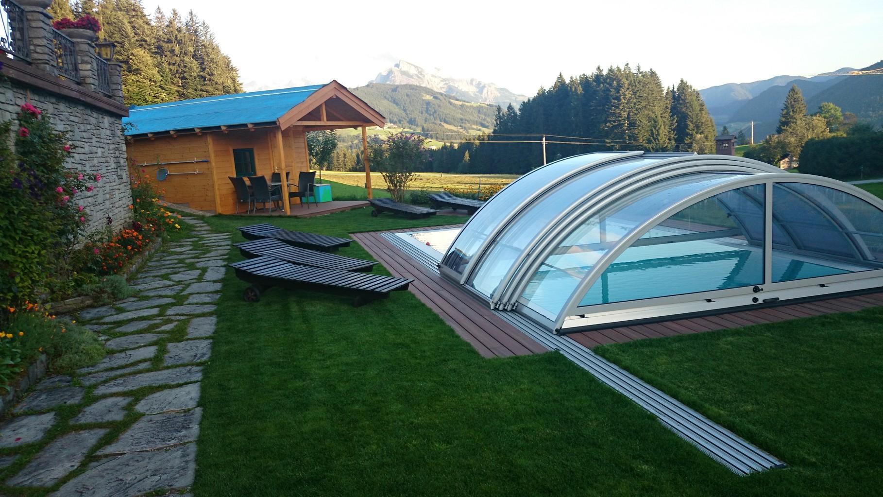 Biohof Haus Wieser, Abtenau, Salzburg Land, Schwimmbad mit Abdeckung