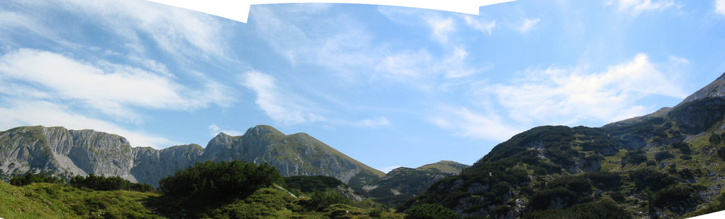 Blick über Tennengebirge, Hochkarfelder, Edelweißkogel, Tagweide