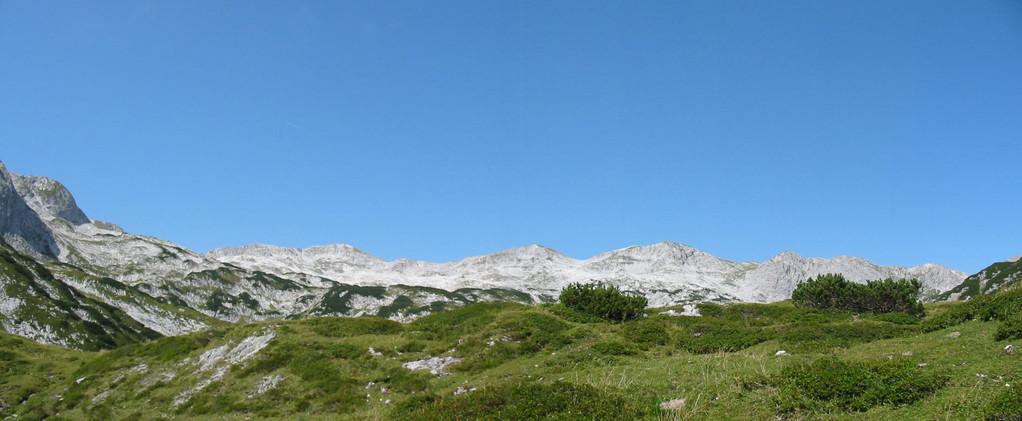 Blick über Platou Tennengebirge vom Fritzer Kogel aus, Abtenau