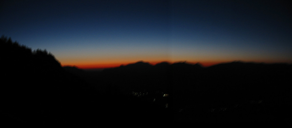Sonnenuntergang, Blick vom Schober, Tennengebirge, Abtenau