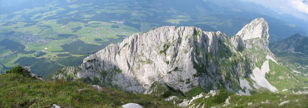 Blick auf Abtenau, Tagweide, Tennengebirge