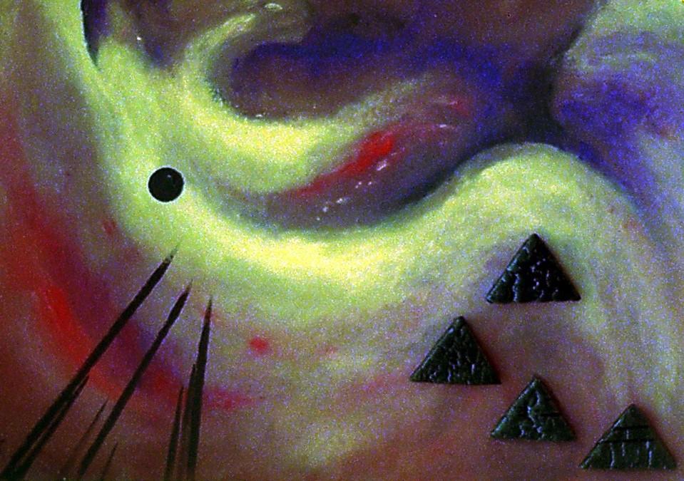 Nordlicht, Acryl, 60 x 70cm, 2005