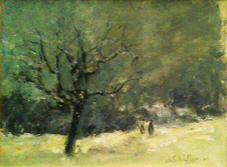 Winterabend, Öl auf Leinwand, 24 x 30 cm