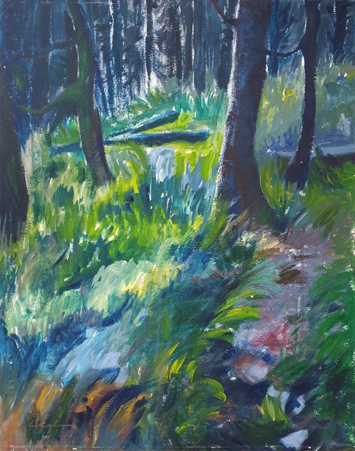 Waldweg 2, Acryl